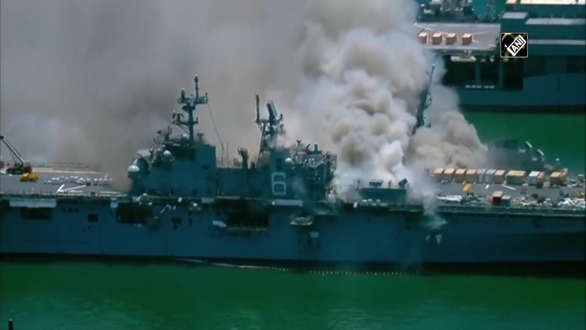 US sailors injured in explosion, fire on naval ship in San Diego