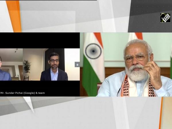 PM Modi interacts with Google CEO Sundar Pichai via video conferencing