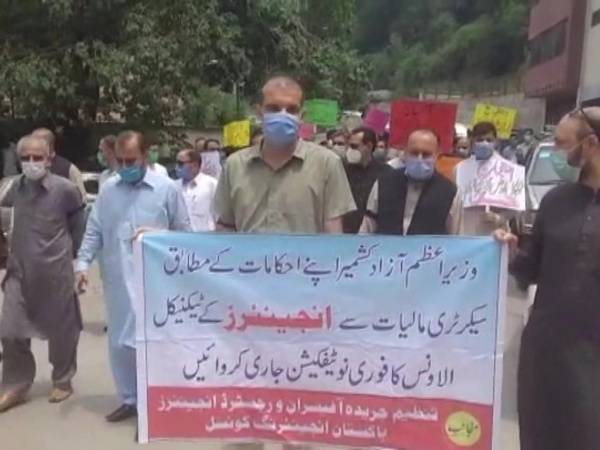 Engineers demonstrate in illegally occupied PoK, demand technical allowance