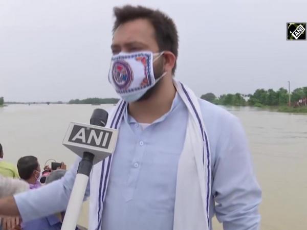 Tejashwi Yadav visits flood-affected Madhubani, says 'CM Nitish is missing'