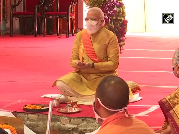Watch: PM Modi performs 'Bhoomi Pujan' at Ram Janmabhoomi site in Ayodhya