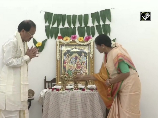 VP Naidu performs puja at his residence on occasion of Ram Temple 'Bhoomi Pujan'