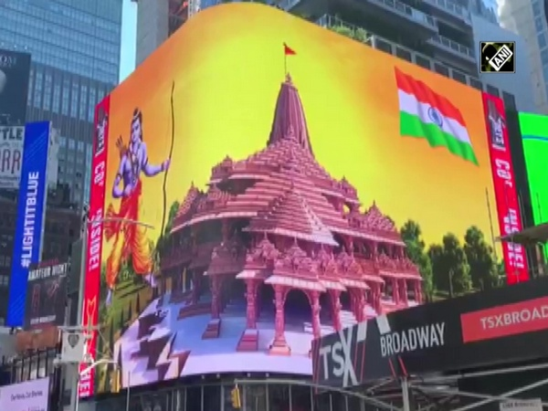 Ram temple digital billboard comes up in New York's Times Square