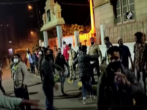 Watch: Young Muslims form human chain to save temple during Bengaluru violence