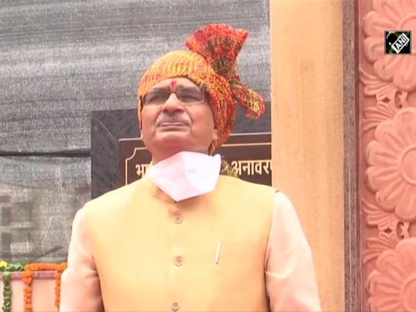 CM Shivraj Singh unveils statue of 'Bharat Mata' in Bhopal
