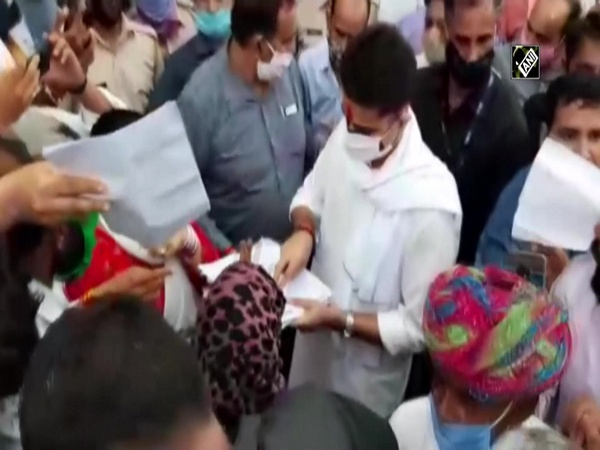 Supporters of Sachin Pilot welcome him in Rajasthan's Tonk