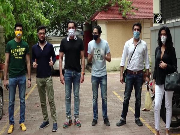 Star cast of 'Ashram' arrives at Prakash Jha's office for success party