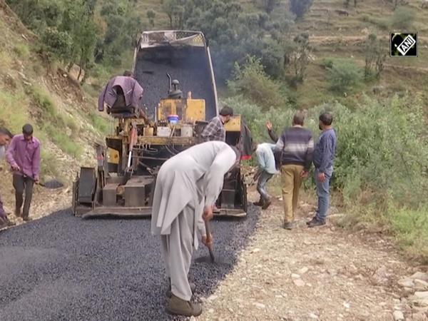 Roads construction underway in Rajouri, locals hail govt efforts