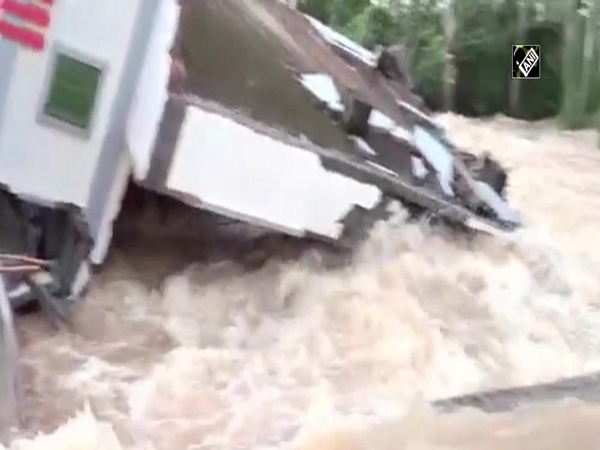 Watch: House collapses due to heavy flow of water following rainfall in AP's East Godavari