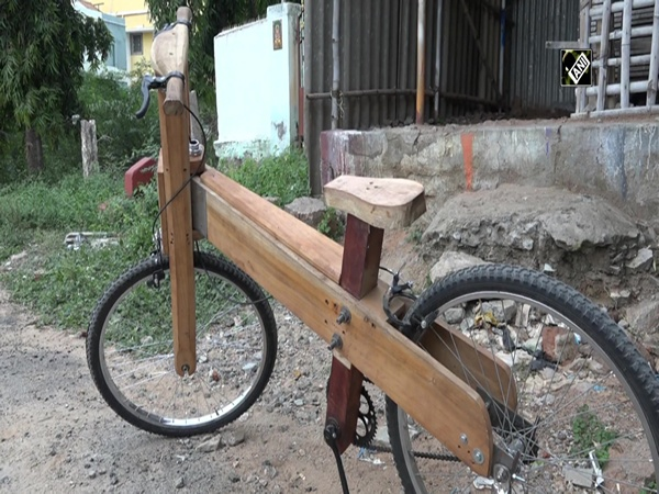 Madurai-based carpenter makes wooden bicycle for his son