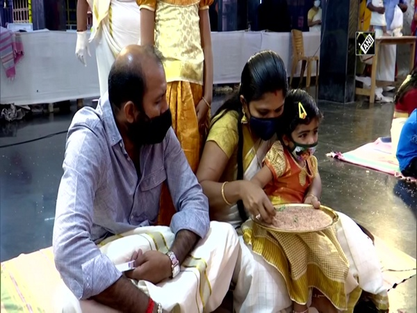 Vidyarambham ceremony: Children introduced to reading, writing in Kerala