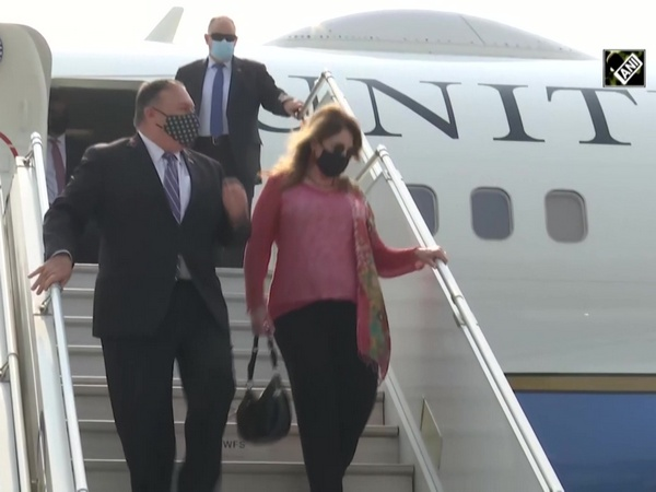 US Secy of State Mike Pompeo arrives in India for 2+2 Ministerial Dialogue