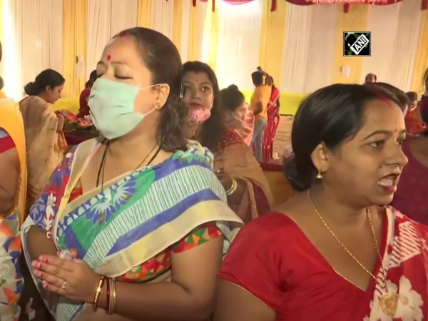 Women participate in 'Sindur Khela' ceremony on Durga Puja's final day