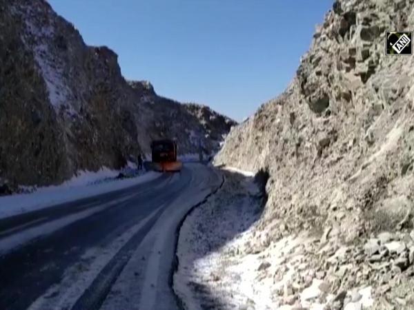 Season's first snowfall drapes Rajouri's Pir Panjal Range