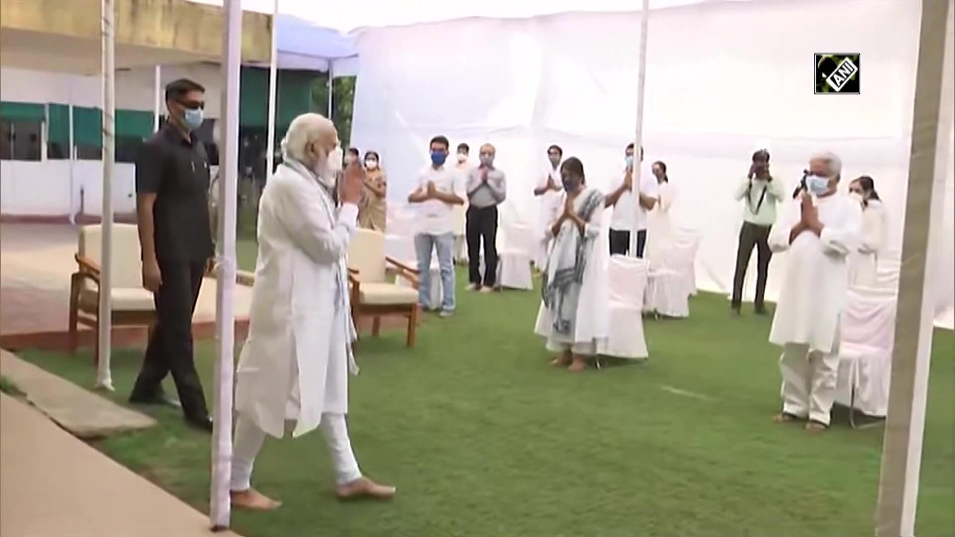 PM Modi pays tribute to former Gujarat CM Keshubhai Patel at his residence in Gandhinagar