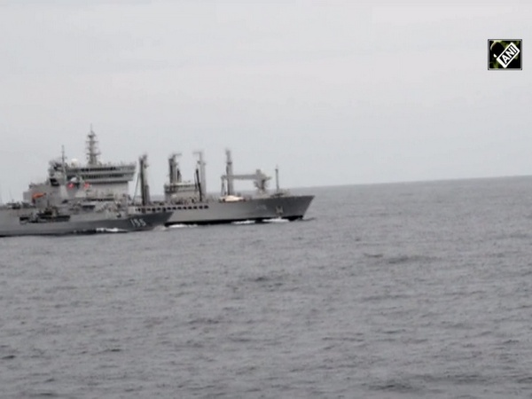 Watch: INS Deepak conducts replenishment task during Malabar exercise phase-2