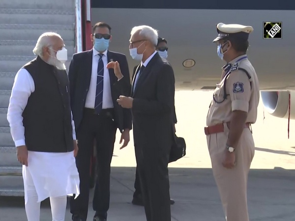 PM Modi arrives in Ahmedabad to review COVID vaccine development
