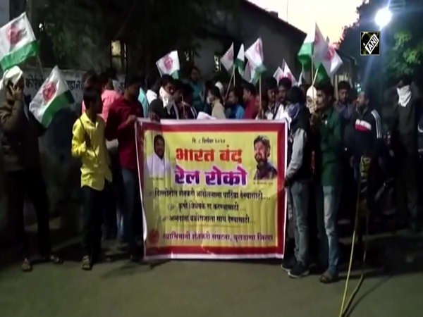 Bharat Bandh: Farmer union stages 'rail roko' protest in Buldhana