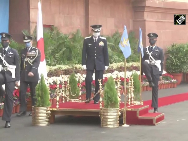 Japanese Air Force Chief receives Guard of Honour at IAF Headquarters
