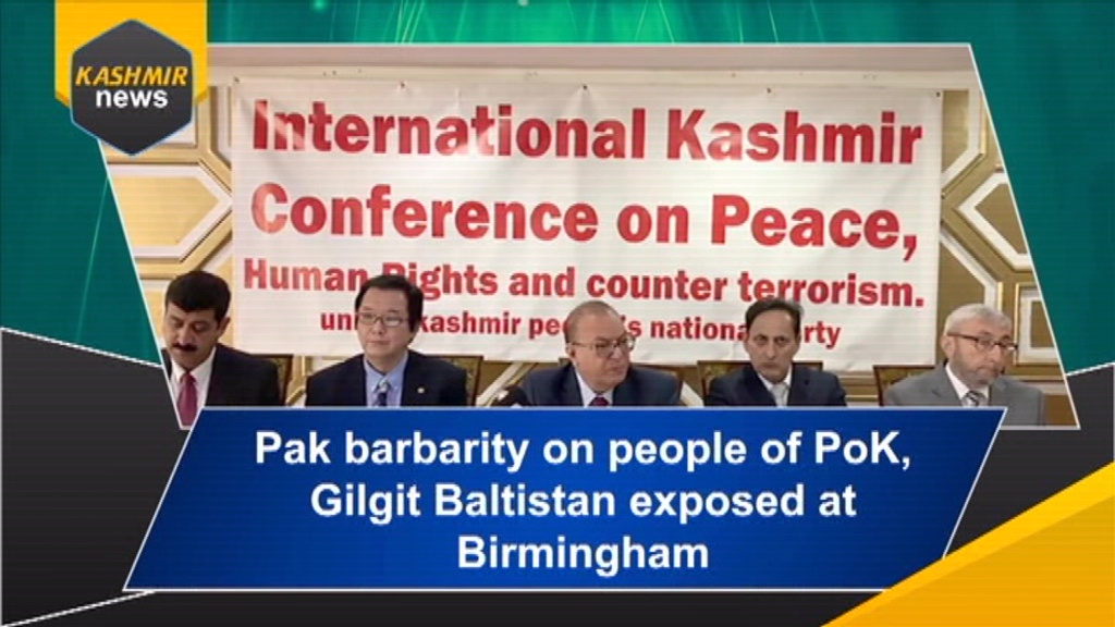 Pak barbarity on people of PoK, Gilgit Baltistan exposed at Birmingham