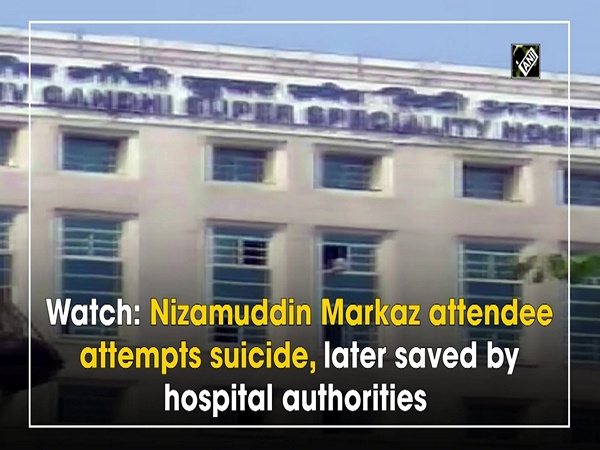 Watch: Nizamuddin Markaz attendee attempts suicide, later saved by hospital authorities
