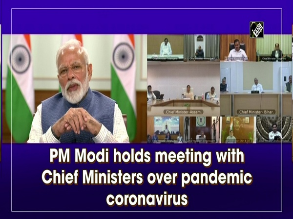 PM Modi holds meeting with Chief Ministers over pandemic coronavirus