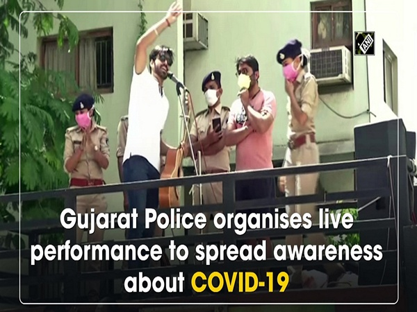 Gujarat Police organises live performance to spread awareness about COVID-19