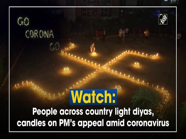 Watch: People across country light diyas, candles on PM's appeal amid coronavirus