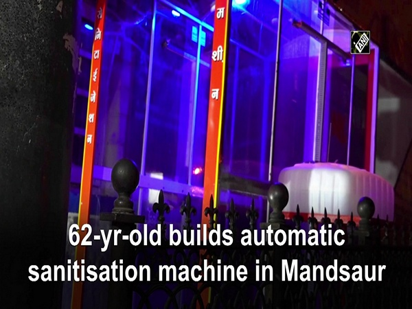 62-yr-old builds automatic sanitisation machine in Mandsaur