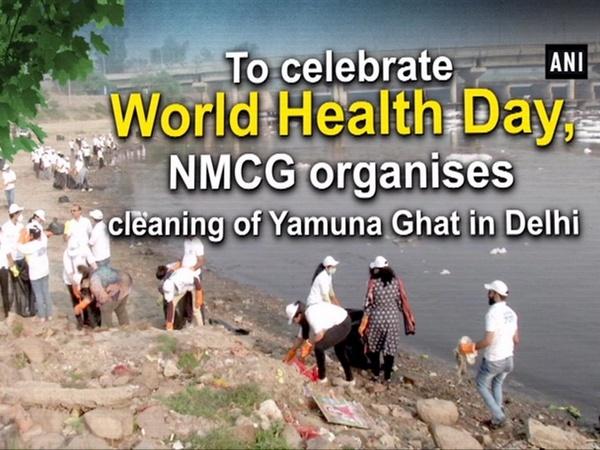 To celebrate World Health Day, NMCG organises cleaning of Yamuna Ghat in Delhi