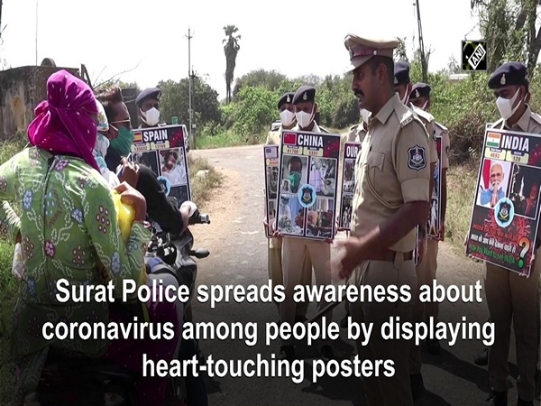 Surat Police spreads awareness about coronavirus among people by displaying heart-touching posters