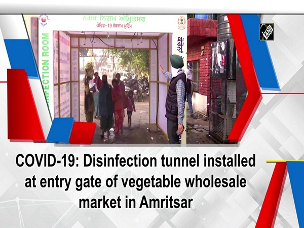 COVID-19: Disinfection tunnel installed at entry gate of vegetable wholesale market in Amritsar
