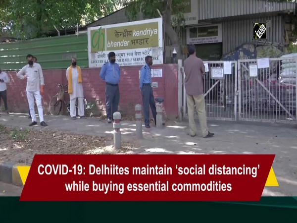 COVID-19: Delhiites maintain 'social distancing' while buying essential commodities