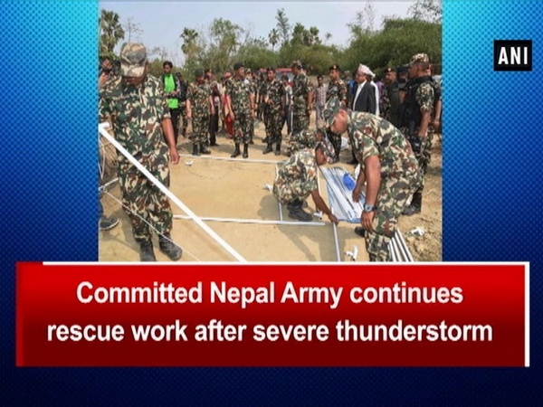 Committed Nepal Army continues rescue work after severe thunderstorm