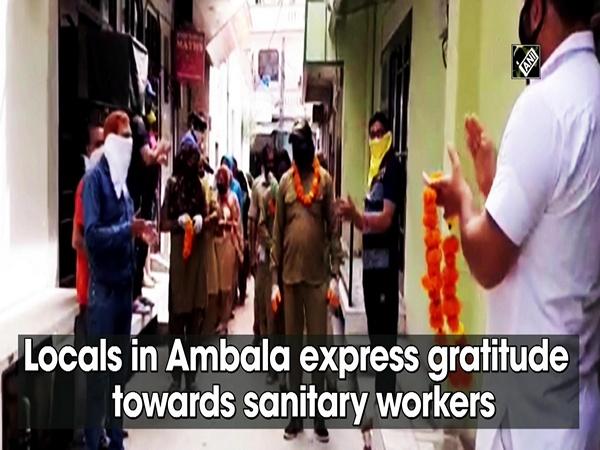 Locals in Ambala express gratitude towards sanitary workers
