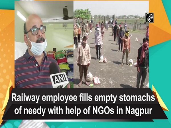 Railway employee fills empty stomachs of needy with help of NGOs in Nagpur