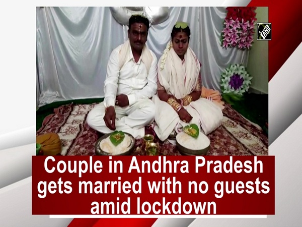 Couple in Andhra Pradesh gets married with no guests amid lockdown