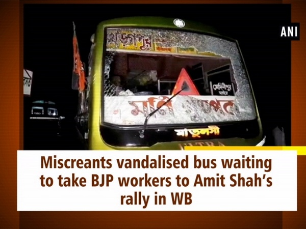 Miscreants vandalised bus waiting to take BJP workers to Amit Shah's rally in WB