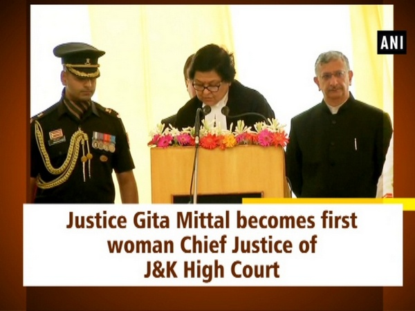 Justice Gita Mittal becomes first woman Chief Justice of J&K High Court