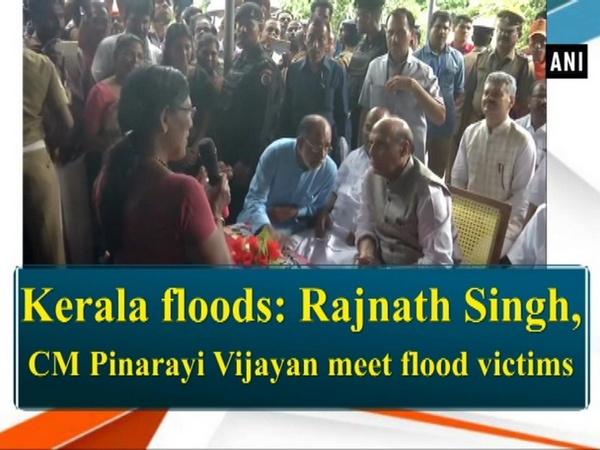 Kerala floods: Rajnath Singh, CM Pinarayi Vijayan meet flood victims