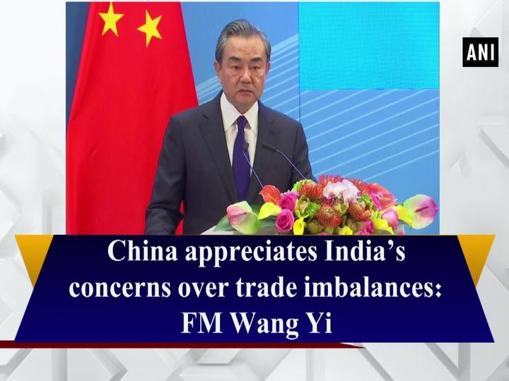 China appreciates India's concerns over trade imbalances: FM Wang Yi