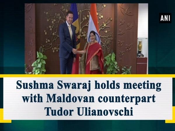 Sushma Swaraj holds meeting with Maldovan counterpart Tudor Ulianovschi