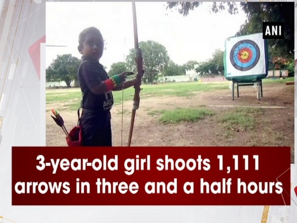 3-year-old girl shoots 1,111 arrows in three and a half hours