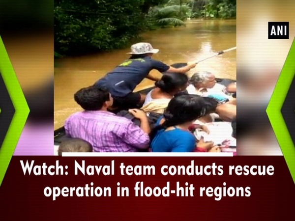Watch: Naval team conducts rescue operation in flood-hit regions