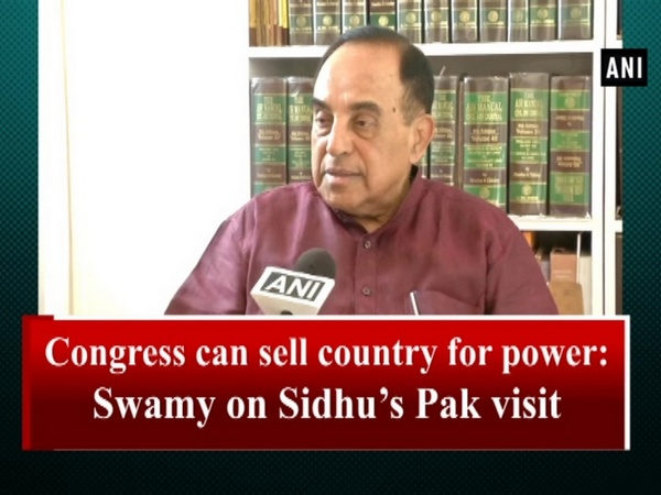 Congress can sell country for power: Swamy on Sidhu's Pak visit