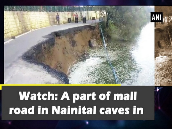 Watch: A part of mall road in Nainital caves in