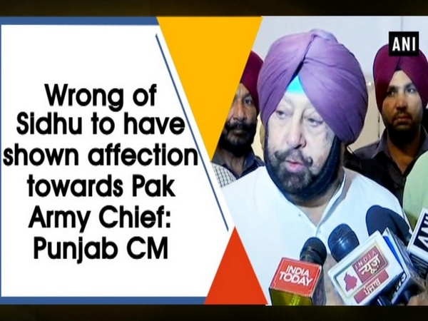 Wrong of Sidhu to have shown affection towards Pak Army Chief: Punjab CM