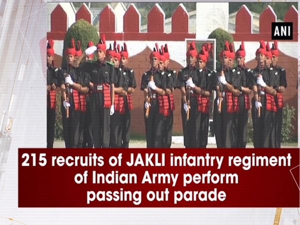 215 recruits of JAKLI infantry regiment of Indian Army perform passing out parade