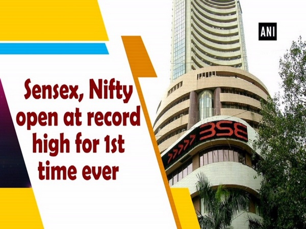 Sensex, Nifty open at record high for 1st time ever