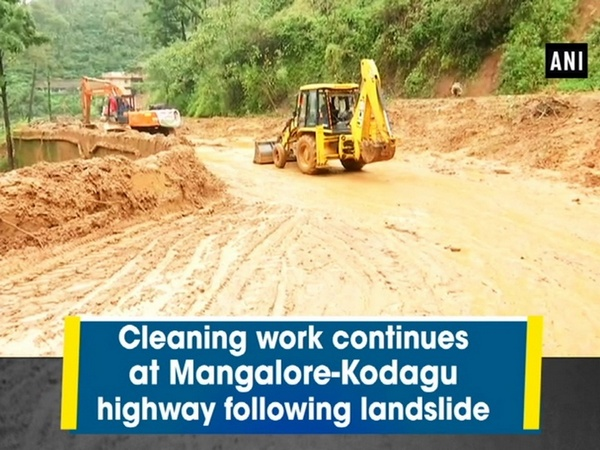 Cleaning work continues at Mangalore-Kodagu highway following landslide